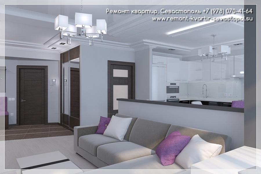 Дизайн комнаты в однокомнатной квартире